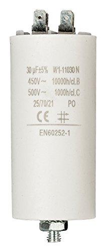 Anlaufkondensator Betriebskondensator 30uF 30µF mit STECKER (Motorkondensator) (230-volt-kondensator-motor)