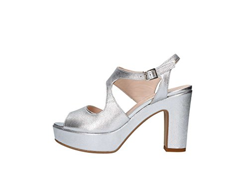 Martina B. 0228nova Sandalo Tacco Donna Argento