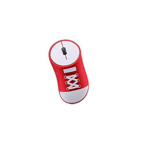 jfhrfged Drahtlose Maus 2,4 GHz Spiel ergonomisches Design Canvas Schuhe Stil Maus USB-Maus (rot) -