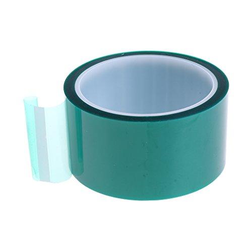MagiDeal Hitzebeständiges Isolierklebeband Des Klebebandes Der Hohen Temperatur Isolierbänder Polyimid - Grün - 50mm