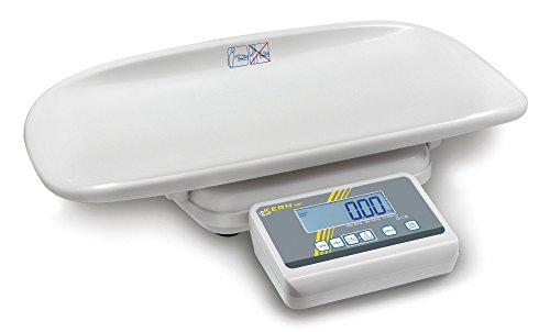 Formschöne Babywaage mit Eich- und Medizinzulassung [Kern MBC 20K10M] für den professionellen Einsatz in der medizinschen Diagnostik, Wägebereich [Max]: 20 kg, Ablesbarkeit [d]: 10 g