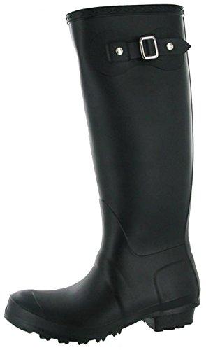 Damen Gürtelschnalle Cotswold Sandringham Damen-Gummistiefel/Wellington-Schuhe Stiefel Schwarz