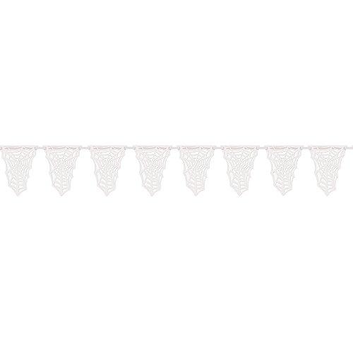 s Papier-Wimpelkette mit Spinnengewebe für Halloween, 3,66 m ()