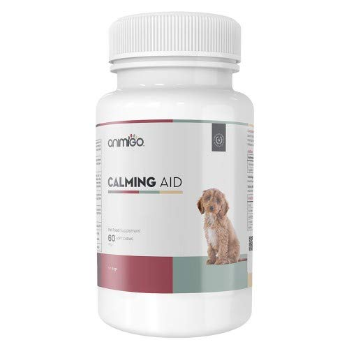 Ayuda Calmante para Perros 60 Comprimidos Masticables Naturales Relajantes