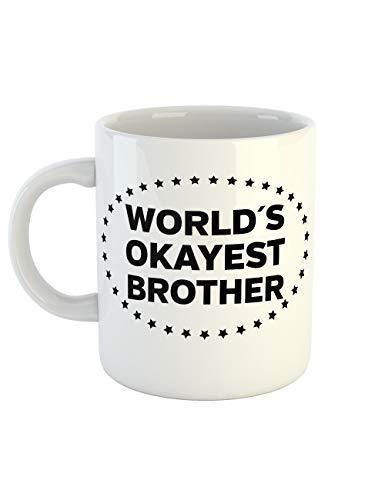 clothinx Kaffeetasse mit Aufdruck Worlds Okayest Brother