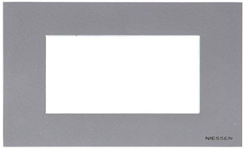 Niessen Zenit - Marco 4 módulos, color plata