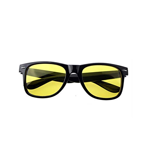 Vikimen Sportbrillen, Angeln Golfbrille,Yellow Night Vision Sunglasses Men Women Driving Driver Sunglass AC Lens PC Frame Eyeglasses Rivet Sun Glasses Yellow (In Schüttung Hochzeit Loser Sonnenbrille)