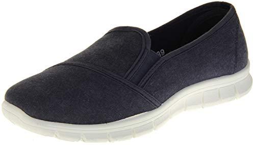 Dunlop Zapatillas de Lona para Mujer, Informales Azul Marino Talla 39 EU