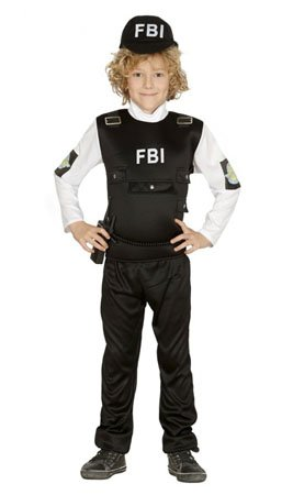 Imagen de disfraz de policía fbi para niño