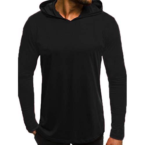 Paolian Pull à Capuche imprimé à Manches Longues pour Hommes, Sweatshirts pour Hommes Chauds d'automne et d'hiver