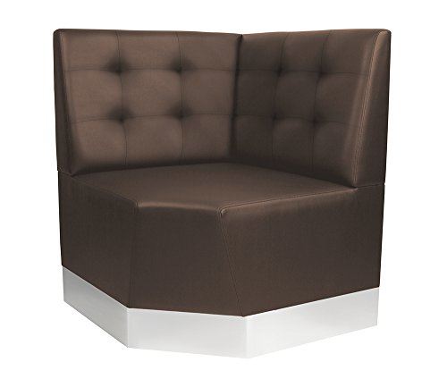 GGM Möbel (Chicago) Gastro Eckbank 0,78x95cm | Dunkelbraun | Chesterfield | Gastrobank Sitzbank Dinerbank Polsterbank Bistro Lounge Bank Dinermöbel Loungemöbel