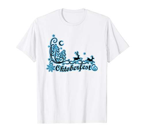 Oktoberfest Silhouette Wild Reh Hirsch im Wald - Jungen Silber Disco Kostüm Shirt
