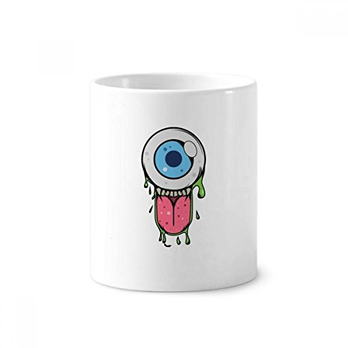 UNIVERSUM und Alien Halloween Monster Keramik Zahnbürste Stifthalter Becher weiß Tasse 350ml Geschenk