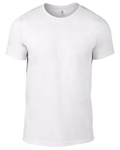 Anvil Herren T-Shirt Weiß