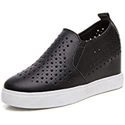 Damen Pumps Keilabsatz Plateau Loafer Wedge-Sneakers Low-Top Freizeitschuhe Slipper