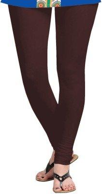 M.G.R Women\'s Cotton Lycra Churidar Leggings - Brown ( Free Size )