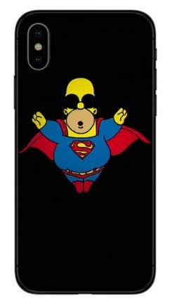 31ONPdS3lCL - Art Design Funda para iPhone XR Supreme Homer Simpson Bart Superman Marvel Hero Carcasa de Moviles Caso Silicón