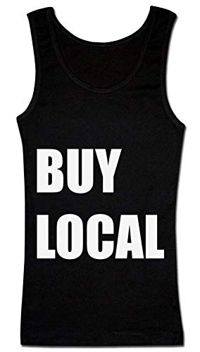 Finest Prints Buy Local Minimal Statement Damen Tank Top Large -