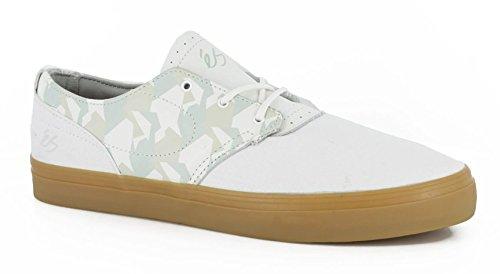 ES, Scarpe da Skateboard uomo Multicolore Bianco/Gomma White/Gum