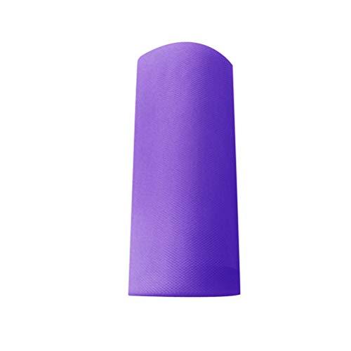 MEIDI Home Tulle Rouleau Tutu Spool Emballage Cadeau Artisanat Bridal Bow Table Runner Chaise Ceintures Décoration De Mariage (Violet) 25 Mètres