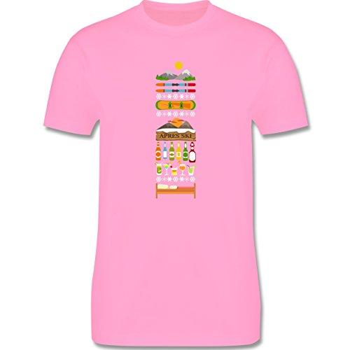 Après Ski - Apres Ski Tag - Herren Premium T-Shirt Rosa