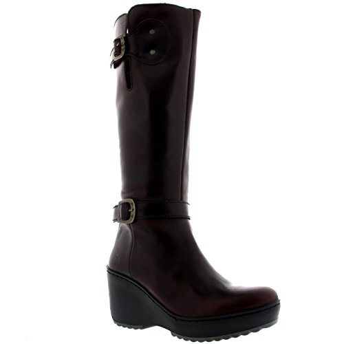 FLY London Mlea Damen Stiefel Dunkelbraun