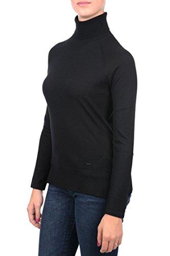 Armani Jeans Damen Rollkragenpullover, Schwarz (Nero 1200), 34 (Herstellergröße: 40) (Armani Jeans Damen Pullover)