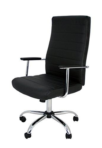 La Silla Española Die spanische Stuhl PATONES Büro Regisseur-Stuhl mit Armlehnen, Kunstleder, Schwarz, 50x 47x 116cm