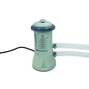 Intex 28604GS - Pompa con Filtro a Cartuccia 600GPH (12V), Grigio, 17,1x 18,4x 32,8cm
