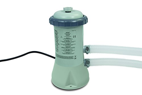 Intex 600 gph Cartridge Filtre Pump (12 V), gris, 17.1 x 18.4 x 32.8 cm, 28604 GS