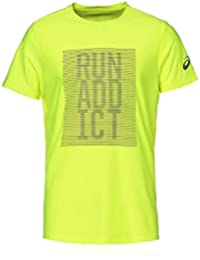 ASICS Graphic SS Camiseta de Manga Corta, Hombre, Amarillo (Safety Yellow),