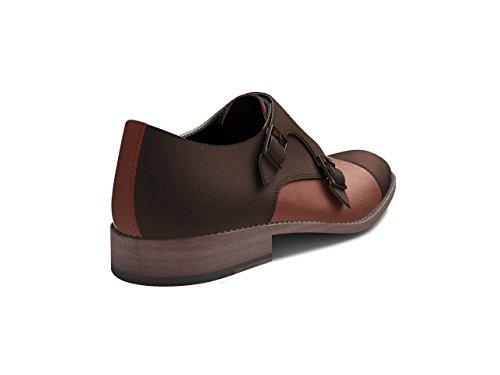 Chaussures Sur Mesure - Moine Double - Homme Haricot de Bicolore Riz