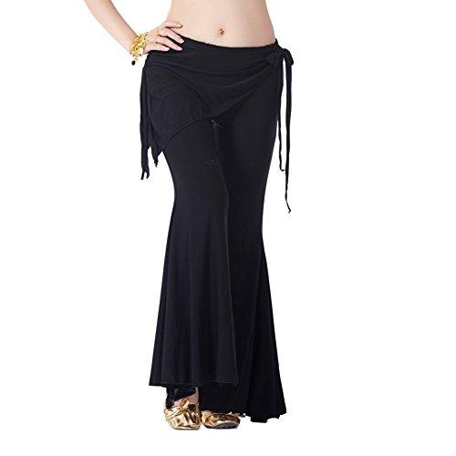 Dance Fairy schwarze Flecken Bauchtanz Yoga Pants Öffnen Flare Leg-Design (Kostüm Machen Kurse)
