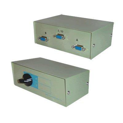 SVGA/conmutador VGA caja - 2 way para TFT/CRT/LCD/televisor LED/monitor