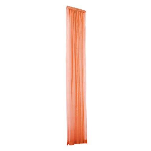 Crity 1 pz tulle per porta finestra tenda drappeggio pannello trasparente sciarpa mantovane orange