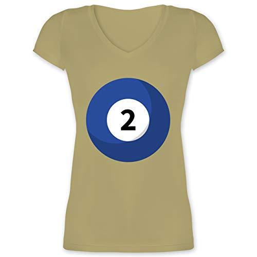 Kostüm Best Friend 2 - Karneval & Fasching - Billard Kugel 2 Kostüm - XL - Olivgrün - XO1525 - Damen T-Shirt mit V-Ausschnitt
