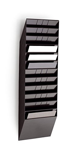 Durable 1709781060 Flexiboxx Prospektspender (12 A4 Querformat) schwarz