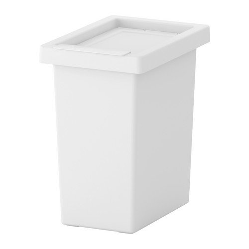 Ikea filur–Bidone con Coperchio Bianco–10L