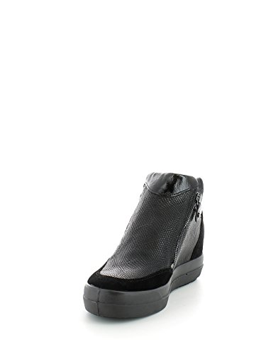 IGI&CO 67540 nero scarpe donna sneakers zeppa interna doppia zip Nero