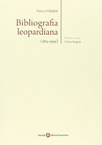 Bibliografia leopardiana (1815-1999)
