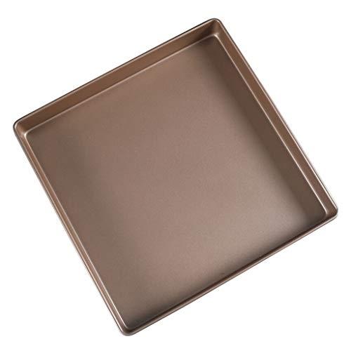 NQ-ChongTian Non-Stick Gold Quadrat Backblech 28x28 Haushaltsofen mit Schneeflocke knusprige Eigelb knusprige Cookie Kuchenrolle Non-Stick-Form 11 Zoll Gold 28 * 28 Backblech - Cookie-sticks