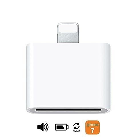 Ideal Dream (l'audio soutien pour MFI Agréé Seulement) 30pin femelle à 8pin mâle Adaptateur Convertisseur pour Apple Certified 30 broches Accessoires Station d'accueil Haut parleur l'audio Synchronisation des données et Charge iPhone 7 7 Plus