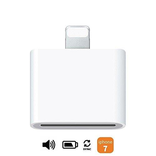 Ideal Dream (Audio-Unterstützung) 30pin weiblich zu 8pin Lightning männlichen Konverter Adapter für Apple zertifiziert 30 Pin Zubehör Docking Station Lautsprecher Audio Daten synchronisieren und laden iPhone 5 5S 6 6S 7 7Plus iPad Mini Air Air 2 iPod Touch 7th Nano 7