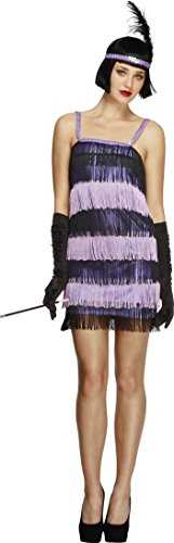 Fever, Damen Flapper Kostüm, Kleid und Stirnband mit Feder, Größe: S, 32744 (1920er Jahren Flapper Kostüm Amazon)