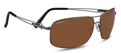 Serengeti Eyewear Sonnenbrille Sassari, Shiny Gunmetal, L, 7665