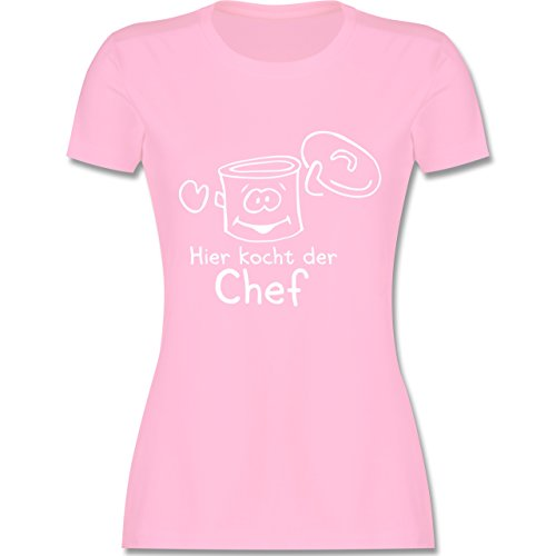 Küche Hier kocht der Chef tailliertes Premium TShirt mit Rundhalsausschnitt  für Damen Rosa