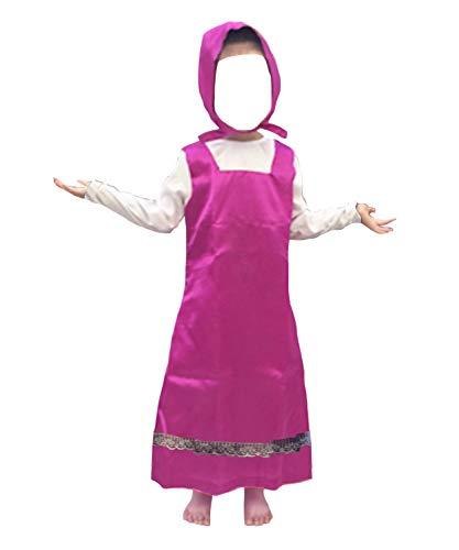 Versusmoda simile masha vestito carnevale bambina cosplay costume masha bear dress masha01 (s - lunghezza 79 cm)