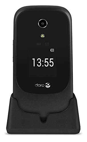 Doro 7060 SIM-Free 4G Mobile Phone with Charging Cradle Included (Black/White) Best Price and Cheapest