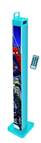Lexibook BT1000SP - Kinder Elektronisches Spielzeug - Bluetooth Stereoturm Cd-player Für Kinder Spiderman