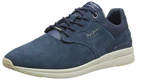 Pepe Jeans London Herren JAYKER DUAL D-Limit 19 Sneaker, Blau (584old Navy 584), 45 EU